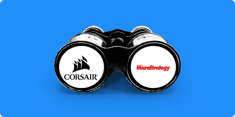 MicroStrategy Shares Surge After Bitcoin Rises and Corsair Gaming Shares Rise as WallStreetBets Finds a New Stock 📈